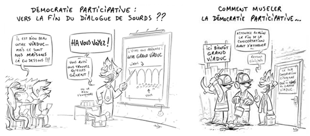 Caricature FNH democratie participative